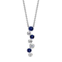 Sapphire And Diamond Bubble Pendant