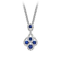 Sapphire And Diamond Peacock Pendant