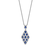 Sapphire & Diamond Lattice Pendant