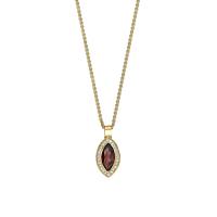 Garnet & Diamond Marquise Pendant
