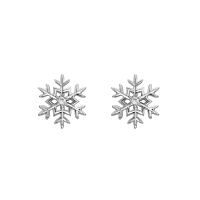 Diamond Set Snowflake Earrings