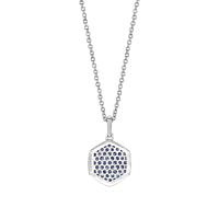Sapphire & Diamond Star Necklace