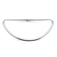 18Ct White Gold 6Mm Flexible Collar