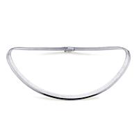 18Ct White Gold 6Mm Flexible Collar