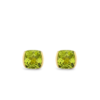 Cushion Peridot Earrings