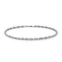 Silver Prince Of Wales Link Chain 50Cm