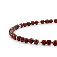 Garnet & Pearl 43Cm Necklace