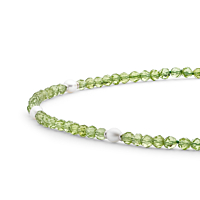 Peridot And Freshwater Pearl Bracelet