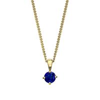 18Ct Gold Sapphire Pendant