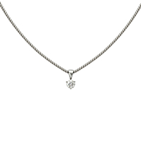 Diamond Solitaire Pendant 0.34Ct