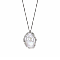Souffle Pearl & Diamond Necklace
