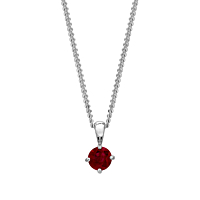 18Ct White Gold Ruby Pendant